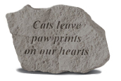 Garden Stone Pet Memorial Cats Leave Paw Prints On Our Hearts