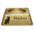 Square Pet Urn Base Matte Brass
