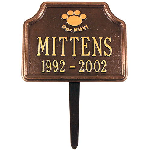 Our Kitty Cat Paw Memorial Marker