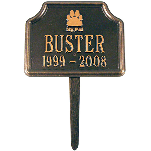My Pal Dog Paw Memorial Marker