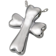 Pet Cremation Jewelry: Dog Bone Cross silver
