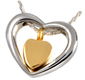 Pet Cremation Jewelry Heart of Gold