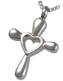Pet Cremation Jewelry Stainless Steel Heart Cross