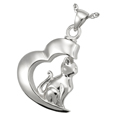 Pet Cremation Jewelry: In My Heart Cat Pendant