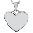 Infinite Heart Pet Cremation Jewelry back shown
