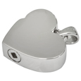 Infinite Heart Pet Cremation Jewelry with discreet urn chamber