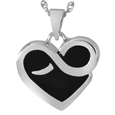Front view shown Infinite Heart Pet Cremation Jewelry