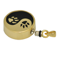 Paw-Print Yin Yang Pet Cremation Jewelry urn opening shown