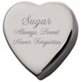 Heart Pet Cremation Box with Free Text Engraving!