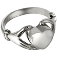 Pet Cremation Jewelry: Sterling Silver Heart Ring