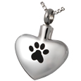 Pet Cremation Jewelry Stainless Steel Paw My Heart