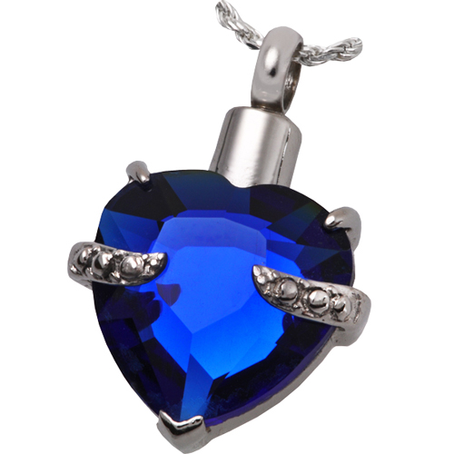 Pet Cremation Jewelry Stainless Steel Royal Heart