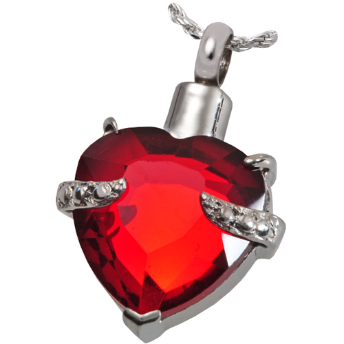 Pet Cremation Jewelry Stainless Steel Majestic Heart