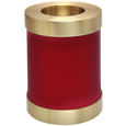 Shown plain Pet Memorial Candle Holder Dog Urn- Scarlet
