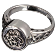 Pet Cremation Jewelry: Sterling Silver Celtic Ring
