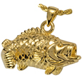 Large Mouth Bass Cremation Jewelry