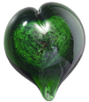 Pet Memorial Green Boundless Heart, 100% Recycled Glass