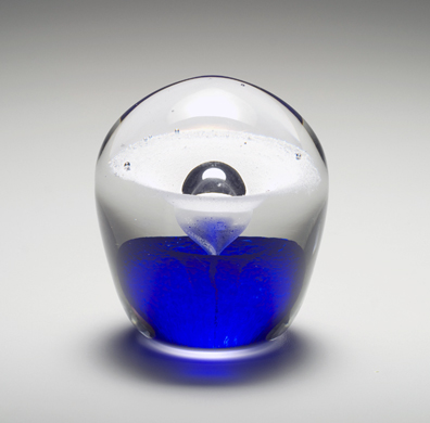 Pet Memorial Enduring Fountain, Small shown in cobalt blue