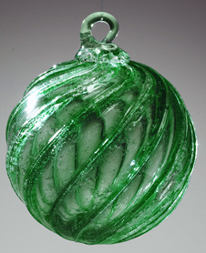 Pet Memorial Green Timeless Sphere- 100% Recycled Glass