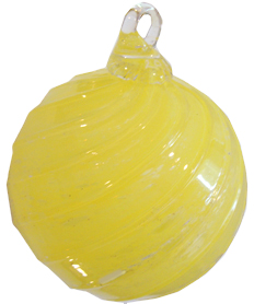 Pet Memorial Timeless Sphere (shown in amber yellow)