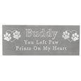 Small Pet Memorial Engraved Plaque- Silver Finish