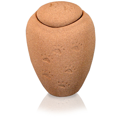 Sand and Gelatin Biodegradable Pet Urn Oceane Sand Paw Prints