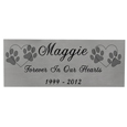 Small Pet Memorial Engraved Plaque- Silver Finish Black Fill