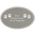 Small Pet Memorial Engraved Oval Silver Plaque