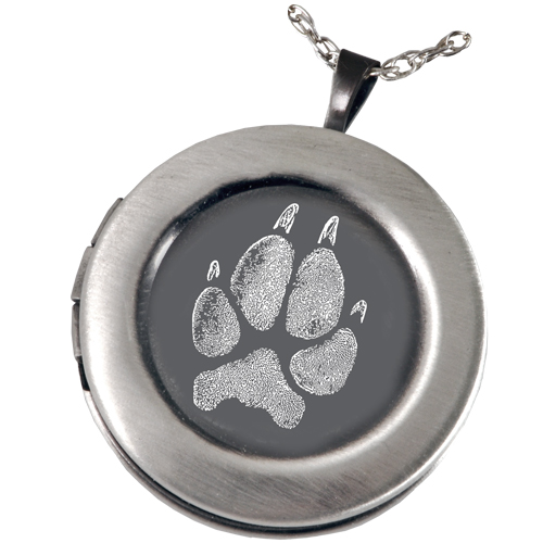 sterling with com amazon shaped paw locket necklace heart lockets dp silver print momento