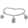 Pet Print Jewelry Sterling Silver Charm Bracelet
