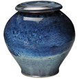 Pottery Pet Urn- Blue Galaxy