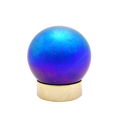 Art Glass Small Pet Urns Small Sphere Purple