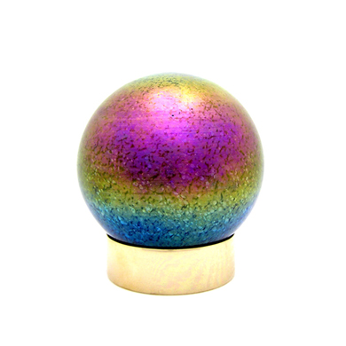 Art Glass Small Pet Urns: Small Sphere Rainbow