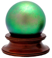 Dog Memorial Art Glass Keepsake Urns Final Fetch in Green