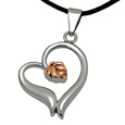 Alternate view of Pet Cremation Jewelry Premium Stainless Steel Rose Heart
