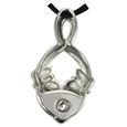 Pet Cremation Jewelry Premium Stainless Steel Claddagh Infinity back shown