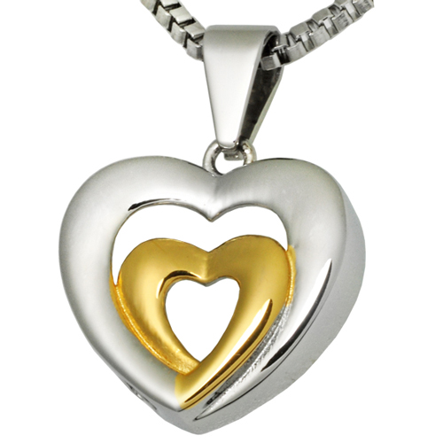 Pet Cremation Jewelry Stainless Steel Married Hearts