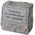 Garden Stone Pet Urn Memorial: In memory of a faithful friend