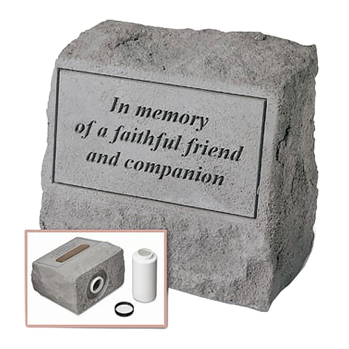 Garden Stone Pet Urn Memorial In memory of a faithful friend