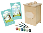 Birch Wood Urn and Farewell Pet Kit