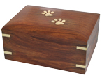 Forever Paw Prints Wooden Box Pet Urn