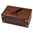 Perfect Wooden Box Pet Urn Small w/ geko silhouette