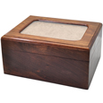 Memory Chest Wooden Box Pet Urn with Photo Window