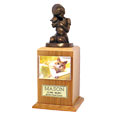"""Always My Kitty"" Cat Cremation Urn with Photo Holder: Oak"