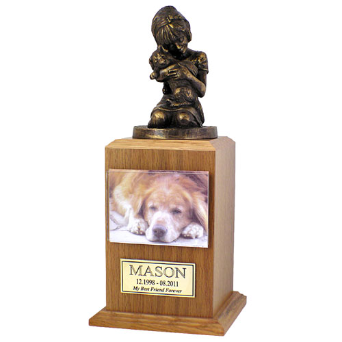 """My Best Dog Ever"" Cremation Dog Urn with Magnetic Photo Holder - Small"