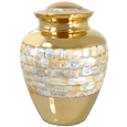Mother of Pearl Pet Cremation Urn