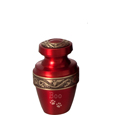 Sample of Scarlet Brass Pet Urn Keepsake