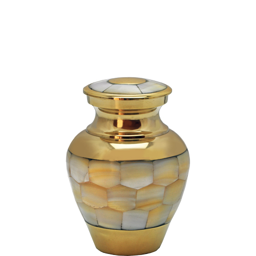 Pet Urn Keepsake Mother of Pearl
