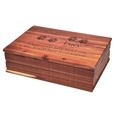 Cedar Wood Dog Book Urn with horizontal engraving