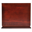 Front shown plain of Cherry Finish Wood Slide Top Dog Urn